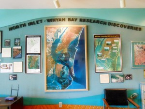 The lobby of the marine lab building.