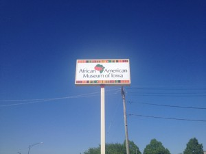 The African American Museum of Iowa sign