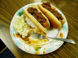 Hot dogs made by Nick.