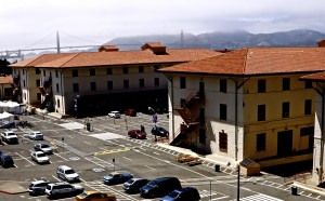 View of Fort Mason Center AND the Golden Gate Bridge is not that far!