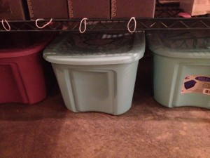 Here are a couple of the tubs that the whole Virgil Powell Collection came in. There were 6 of these, plus a taller green rub (by about 1/4th the height of a regular tub) that housed the photo collection previous to storing.