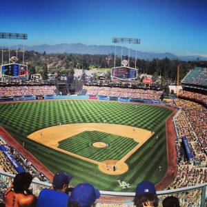 My view from the Dodgers game!