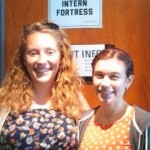 My fellow intern (for the last 2 weeks) Kelly and I (we named our office)