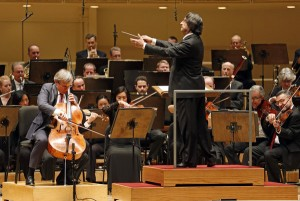 World famous conductor, Ricardo Muti conducting the Chicago Symphony