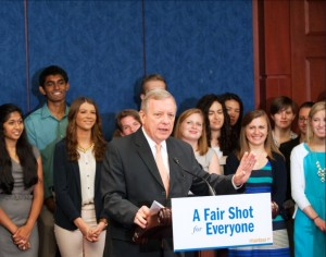 Senator Durbin (D-IL) speaking on the Bank on Students Emergency Loan Refinancing Act.