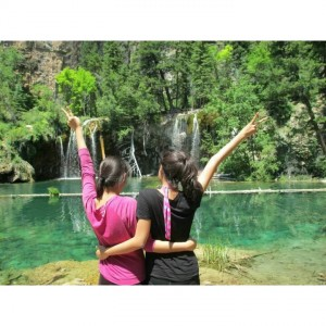 Thao and I at Hanging Lakes!
