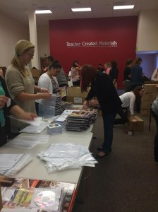 My hardworking, enthusiastic assembly line on Thursday morning! There were about 8 stations in total working at once.