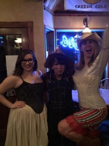 Millicent, our boss Maggie, and I. All proud Cornellians/ Old Westerners.