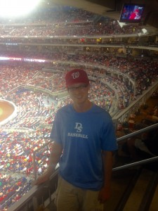 A picture of me from our seats at the Nationals game