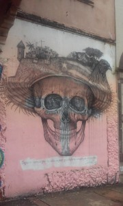 This is a really cool image I found while walking the streets of Santurce If you look closely at the sombrero their are symbols that represent Puerto Rico