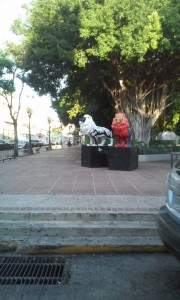 Some lion statues in Ponce