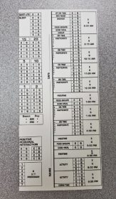 Weekday Punch Card