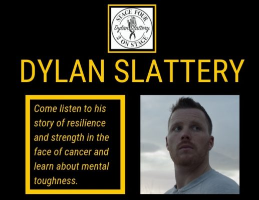 Come listen to Dylan's story of resilience and strength in the face of cancer and learn more about mental toughness. Two chances to check it out: FRIDAY, MARCH 29TH 11 :30 a.m.-12:30 p.m. in Smith Dining Hall OR 3:30-4:30 p.m. on the OC Questions?  MSisk