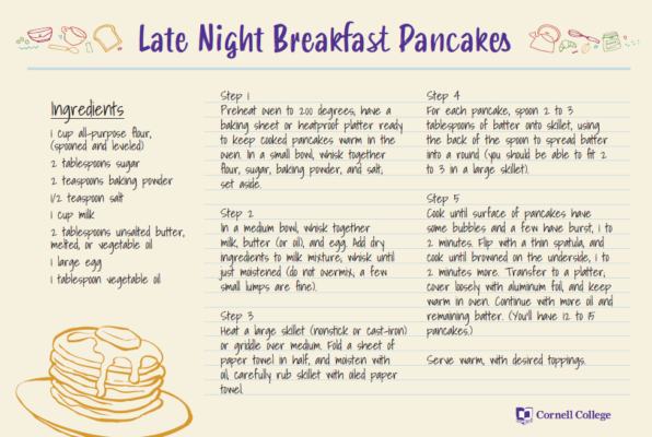 Join in a Virtual Late Night Breakfast on Tuesday, May 12, as we celebrate the end of the block!