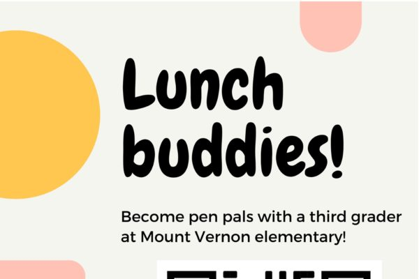 Become pen pals with a third-grader at Mount Vernon elementary!
