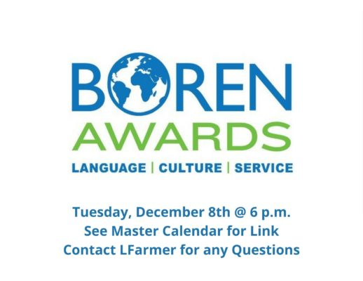 """Interested in studying abroad for a summer, a semester, or a full year? Come learn about the Boren Scholarship, which provides up to $25,000 for students to study language and culture in less-commonly-traveled-to countries. This session will be led by Boren faculty advisor Devan Baty, Professor of French. Boren Scholars also automatically secure a one-year … <a href=""""https://blogs.cornellcollege.edu/studentlife/archives/3366"""" class=""""more-link"""">Continue reading <span class=""""screen-reader-text"""">Boren Scholarship Info Session 12/8 at 6pm</span> <span class=""""meta-nav"""">→</span></a>"""